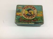 VINTAGE PLAYERS NAVY CUT TOBACCO CASKET CANISTER ADVERTISING TIN 4X31/8X11/2