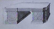 Design for Chippendale Library Table, Magic Lantern Glass Slide