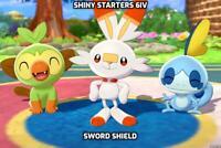 Shiny Starters-6iv-(Pokemon-Sword/Shield) 100%Legit! Nintendo Switch