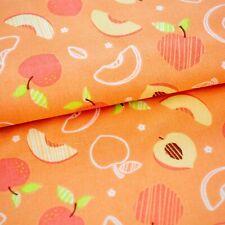 100% Baumwolle hochwertig Früchte Pfirsich Aprikose apricot, 25cm pro Stück