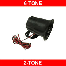 New Universal 6-Tone/2-Tone Selectable 128db Loud 12V Siren For Car Alarms