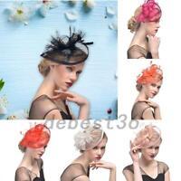 Elegant Headband Fascinator Hat Aliceband Wedding Ladies Day Race Royal Ascot US
