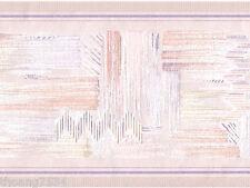 Pastel Pink Peach Geometric Abstract Modern Sheen Textured Wall paper Border