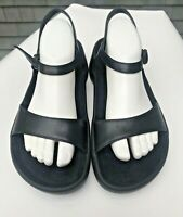 BIRKENSTOCK JOSEPHINE TATAMI Black Ankle Strap Leather Sandals Size 42 11.5 EUC