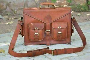 New Vintage Leather Messenger Bag Shoulder Laptop Office Briefcase Bag
