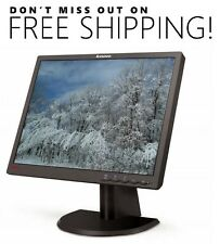 "Lenovo ThinkVision L171P 17"" LCD Monitor w/ VGA & power cables - Free Shipping"