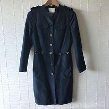 Phillip Lim 3.1 Navy Blue Button Down Shirt Dress Silk Sz2 UK8/10