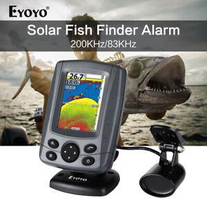 "Eyoyo Sonar Fish Finder 3.5"" LCD Boat Finder Sunlight Readable for Lake Fishing"
