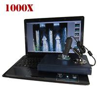 2MP 1000X 8 LED USB Digital Microscope Endoscope Zoom Camera PC Tablet Laptop