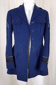 CULVER ROTC Blue Wool Serge Military Academy Cadet Coat Uniform Jacket Blazer 38