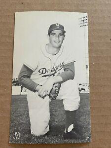 J.D. McCarthy Sandy Koufax Brooklyn Dodgers Postcard