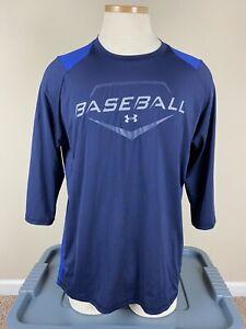 Under Armour Baseball Fitted 9 Strong Long Sleeve Heat Gear Shirt Men's Sz L/XL?