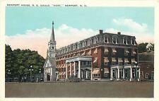 Newport New Hampshire~Hope, Gould House~Mansard Roofs~Chapel?~1920s Postcard