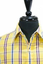 Robert Graham Yellow Check Shirt XL 6875