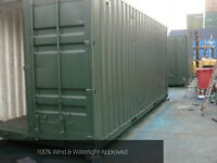 20ft container - storage use - repainted green or blue shipping container