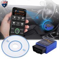 ELM327 OBDII OBD2 Bluetooth Car Diagnostic Scanner Torque Android Auto Scan Tool