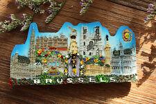 Belgien Brüssel Wahrzeichen Reiseandenken Reise Souvenir 3D Kühlschrankmagnet