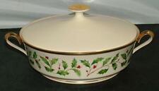 Lenox Holiday Dimension COVERED VEGETABLE Serving Bowl with Lid