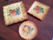 Four Golden Harvest Ceramic Fruit Trays