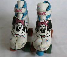 Vintage Minnie Mouse Girls Children's Velcro Roller Skates Size 1