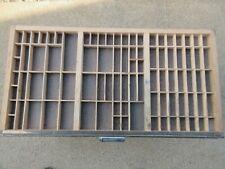 Letterpress Thompson California Job Case Type Case Shadow Box L30