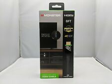 Monster 6 ft HDMI 4KHDR 21.0 GBPS Speed Green LED Light HDMI Cable Brand New