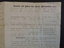 Rare 1835 New York Brooklyn John Schenck Flatbush Farmer Loan Document