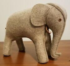 Restoration Hardware Wool Felt Gray Elephant Bookend