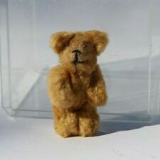 Vintage Schuco Soft Mohair Fully Jointed Miniature Teddy Bear with Bead Eyes