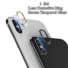 Metal Rear Camera Lens Protector Ring Tempered Glass Protective Film For iPhone