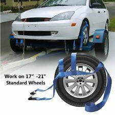 2 Strap Wrecker Car Hauler Truck Tow Dolly Tire Wheel Net Set Flat Hook Tie Down