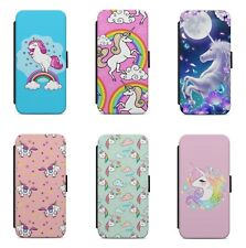 Cute Magical Unicorn Rainbow Pattern WALLET FLIP PHONE CASE COVER FOR HUAWEI