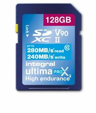 Professional Grade 128GB UHS-II v90 Class 10 SDXC Card 280MB/s (240MB/s Write)