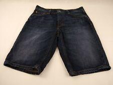 Levi's 541 Dark Wash Faded Mens Denim Jean Shorts Size 30