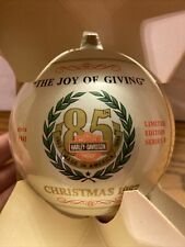 1987 Harley Davidson 85th Anniversary Christmas Bulb Ornament The Joy Of Giving