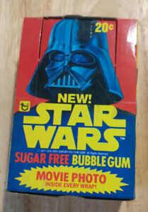 Topps Star Wars Sugar-Free Movie Photo Bubble Gum 1977 Box and Photos Card Lot