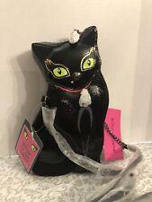 "Betsey Johnson KITSCH BLACK CAT ""CLAWSOME"" Crossbody Bag NWT"
