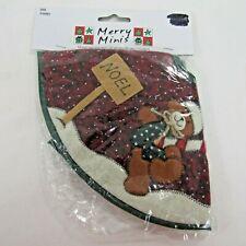 Miniature Christmas Tree Skirt 12 inch Appliqued Bear Merry Minis Michaels 2005