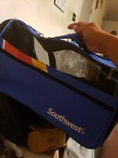 Southwest Airlines Dog Cat Bag Pet carrier Airline Tsa Approved Zip Up Blue