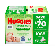 Huggies Natural Care Sensitive Baby Wipe Refill Fragrance Free 1,088 ct New