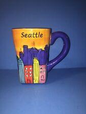 3D Raised Pictures SEATTLE Washington City  Coffe Mug Public Market Center 16 oz