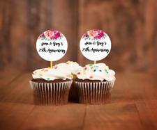 12x Wedding Picks Anniversary Cupcake Picks Birthday Cupcake Topper