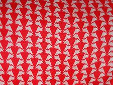"LIBERTY ARTS FABRIC ""JONATHAN"" PER HALF METRE 50cm cotton tana lawn RED/WHITE"