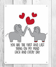 YOU ARE THE FIRST AND LAST Cute High Quality Metal Sign Tin Retro Plaque 20x15cm