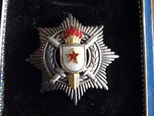 Yugoslavia Order of Military Merit with Swords 3rd Class-Silver Marked .800