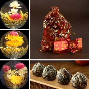 10pc Handmade Blooming Jasmine Flower Flowering Green Tea Ball Home Gift Wedding
