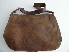 Vintage French hunter's game leather canvas netting shoulder bag 12 cartridge sl
