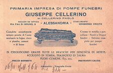 "CARTOLINA PUBB. "" POMPE FUNEBRI "" GIUSEPPE CELLERINO ALESSANDRIA 1930 C5-623"