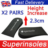 Superinsole 2 Pairs Unisex Foam Heel Lift Pad shoe insoles increase height pads