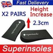 Superinsole 2 Paia Unisex Schiuma HEEL LIFT PAD Scarpa insoles-increase altezza